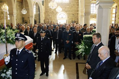 funeral for the former Director General of the General Directorate of State Security, retired Staff Major General Edward Mansour