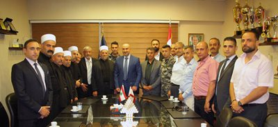 Major General Saliba receives a delegation
